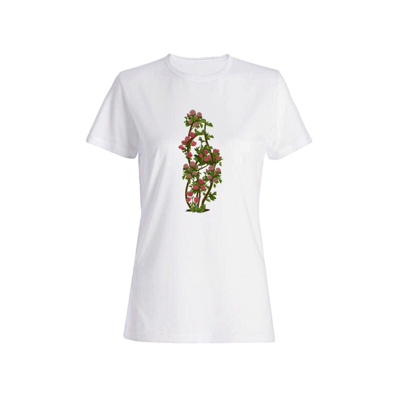 تی شرت نخی زنانه طرح گل کد 3903