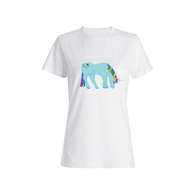 تی شرت نخی زنانه طرح اسب کد 3902
