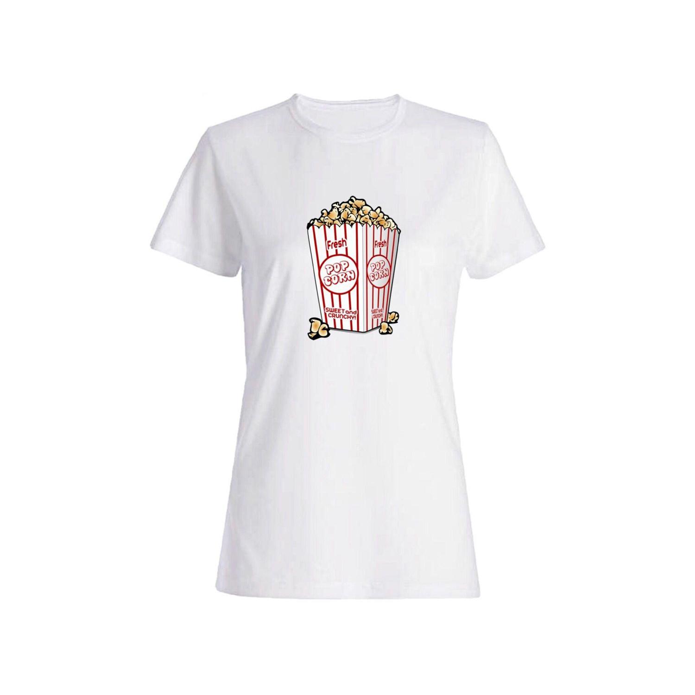 تی شرت نخی زنانه طرح پاپکورن کد 3898
