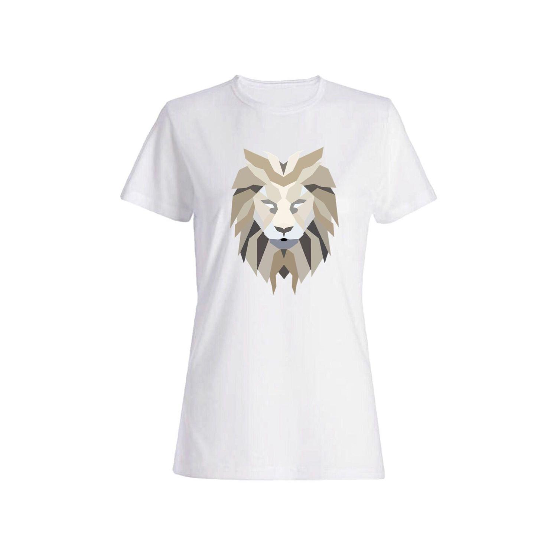 تی شرت نخی زنانه طرح شیر کد 3897
