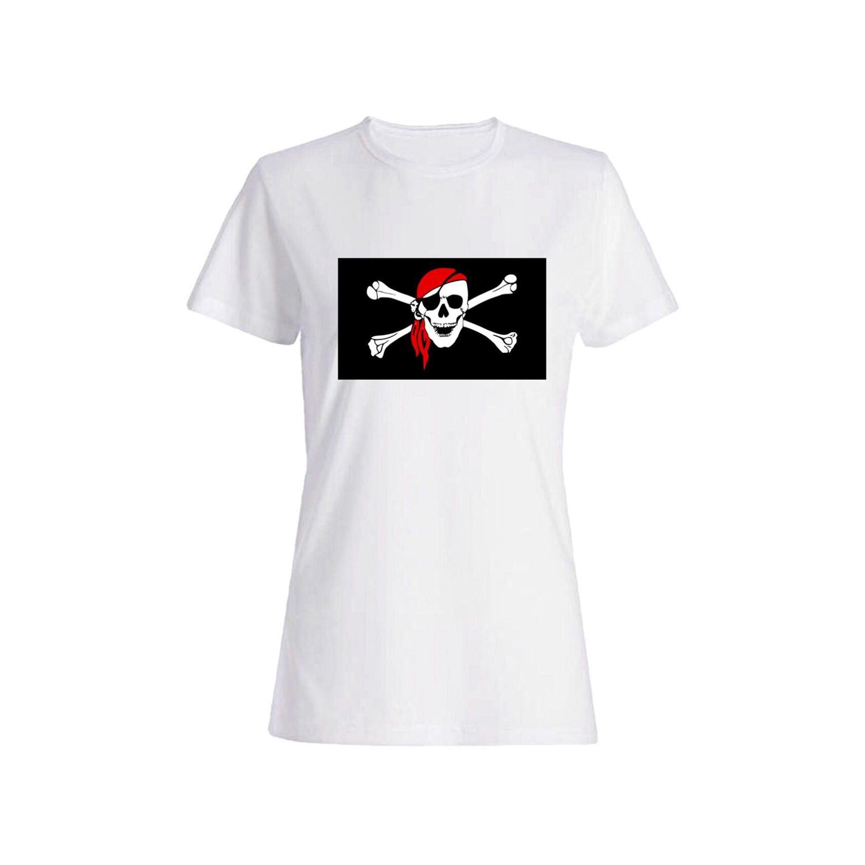 تی شرت نخی زنانه طرح اسکلت کد 3894