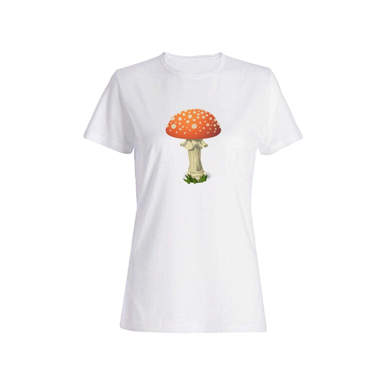 تی شرت نخی زنانه طرح قارچ کد 3887