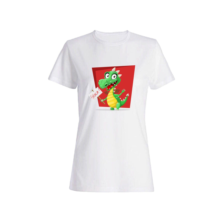 تی شرت نخی زنانه طرح تمساح کد 3863