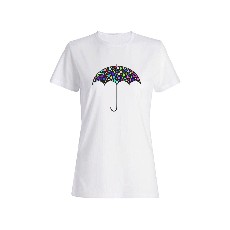 تی شرت نخی زنانه طرح چتر کد 3856