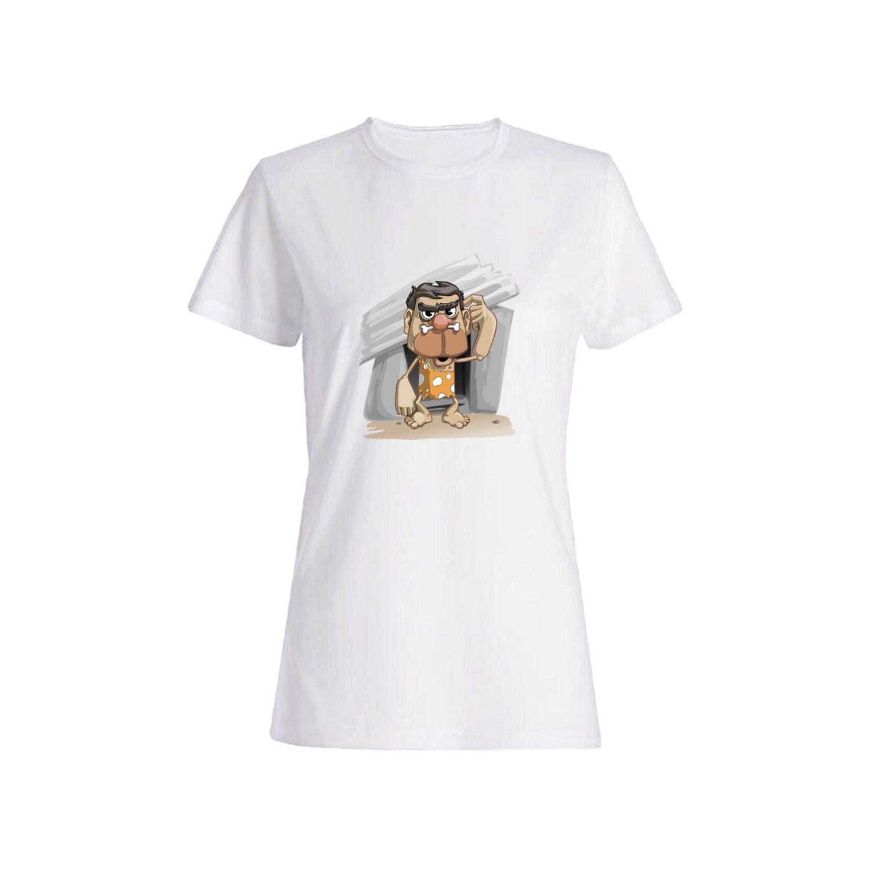 تی شرت نخی زنانه طرح مرد کد 3849