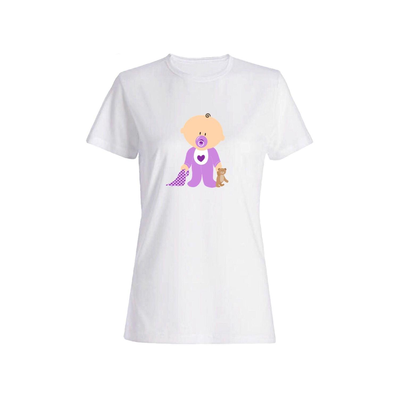 تی شرت نخی زنانه طرح بچه کد 3837