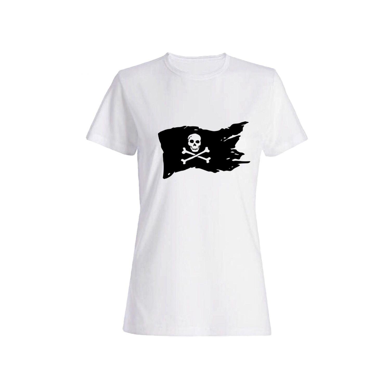 تی شرت نخی زنانه طرح اسکلت کد 3828