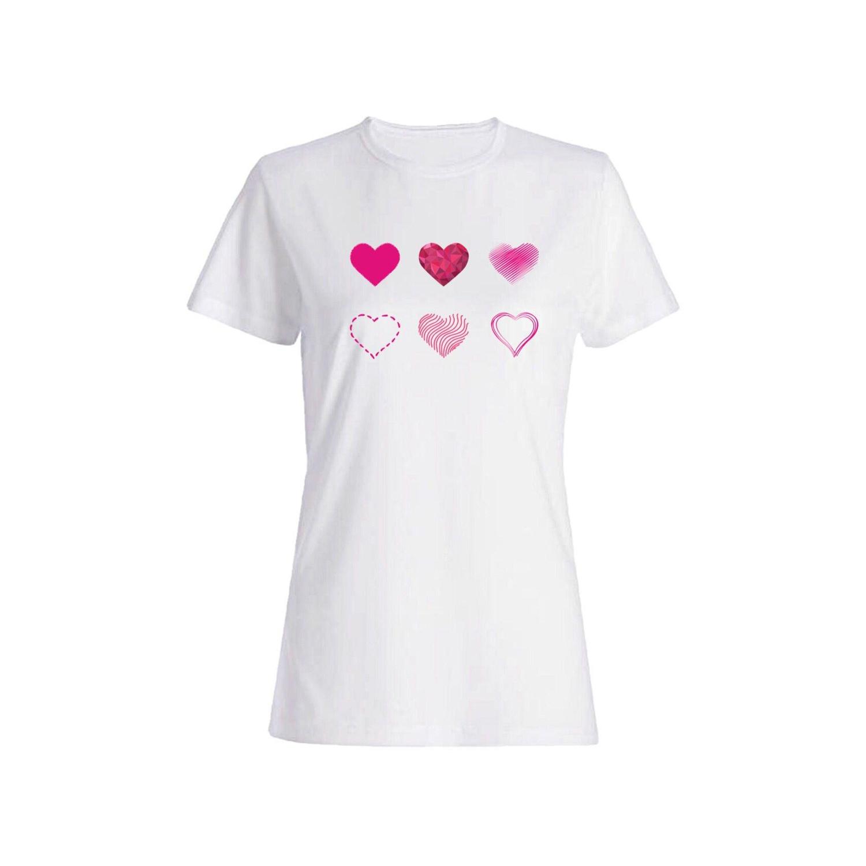 تی شرت نخی زنانه طرح قلب کد 2680