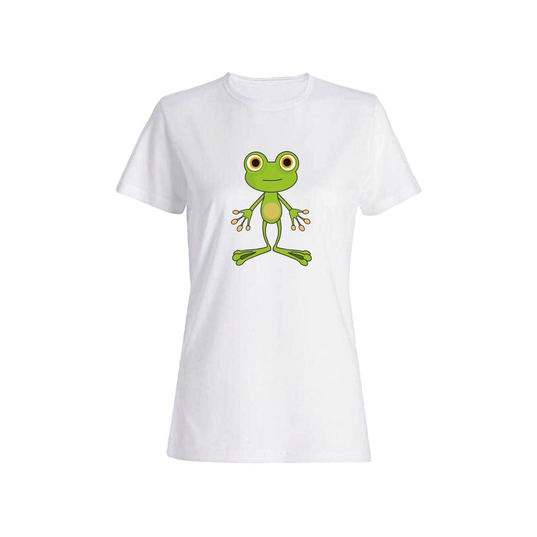 تی شرت نخی زنانه طرح قورباغه کد 2666