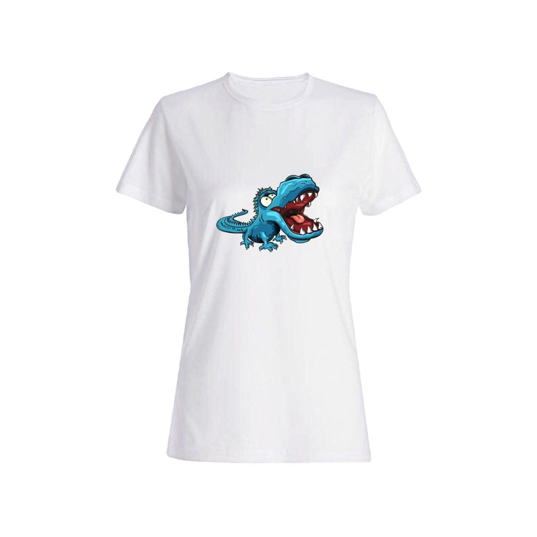 تی شرت نخی زنانه طرح دایناسور کد 2637