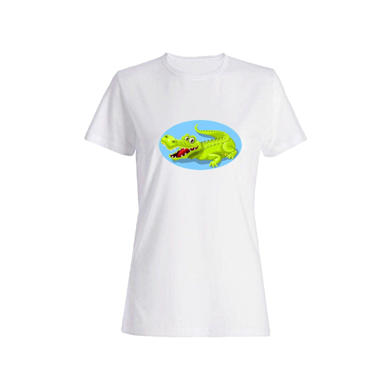 تی شرت نخی زنانه طرح تمساح کد 2636