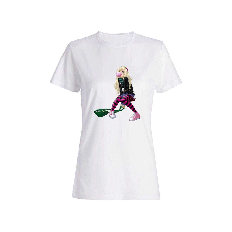 تی شرت نخی زنانه طرح دختر کد 2628