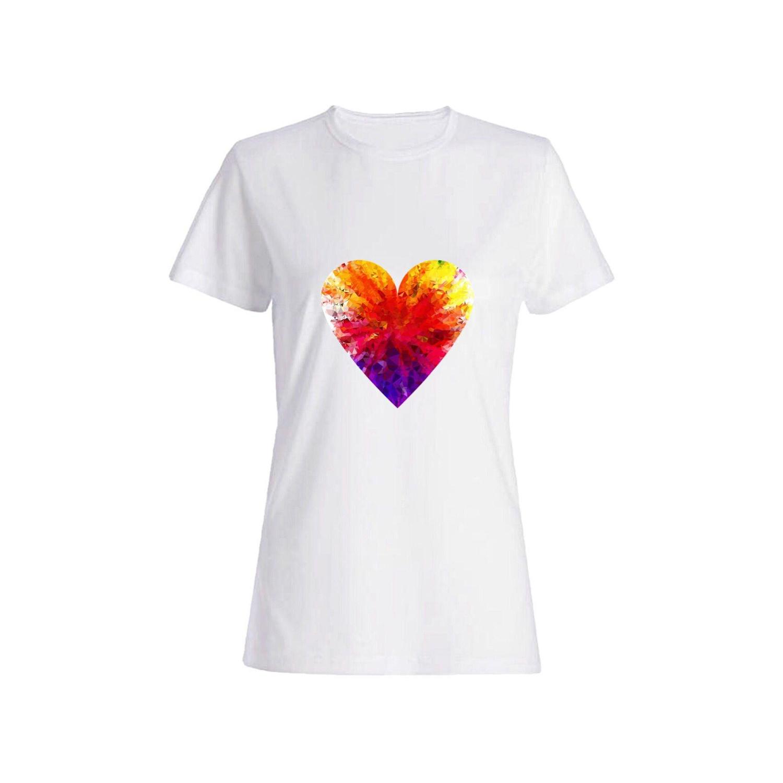 تی شرت نخی زنانه طرح قلب کد 2626