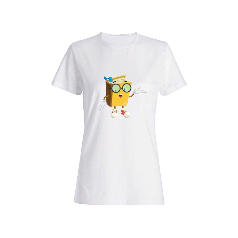 تی شرت نخی زنانه طرح کتاب کد 2616