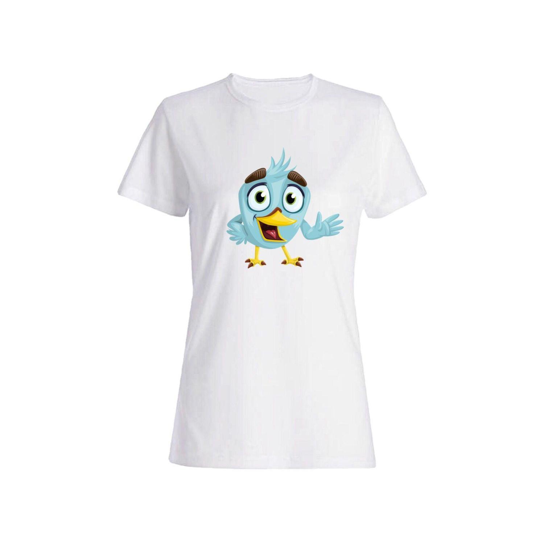 تی شرت نخی زنانه طرح گنجشک کد 2613