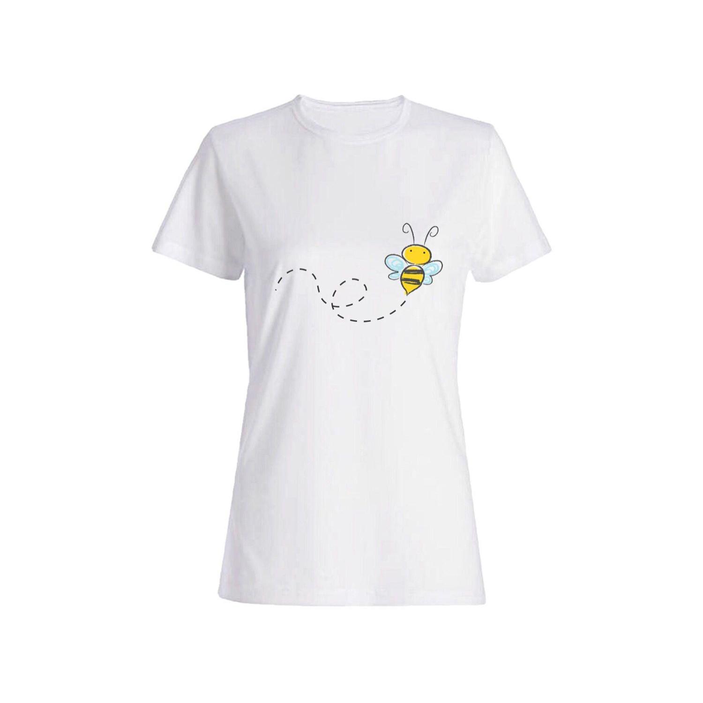 تی شرت نخی زنانه طرح زنبور کد 2610
