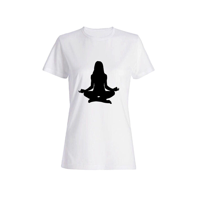 تی شرت نخی زنانه طرح یوگا کد 2726
