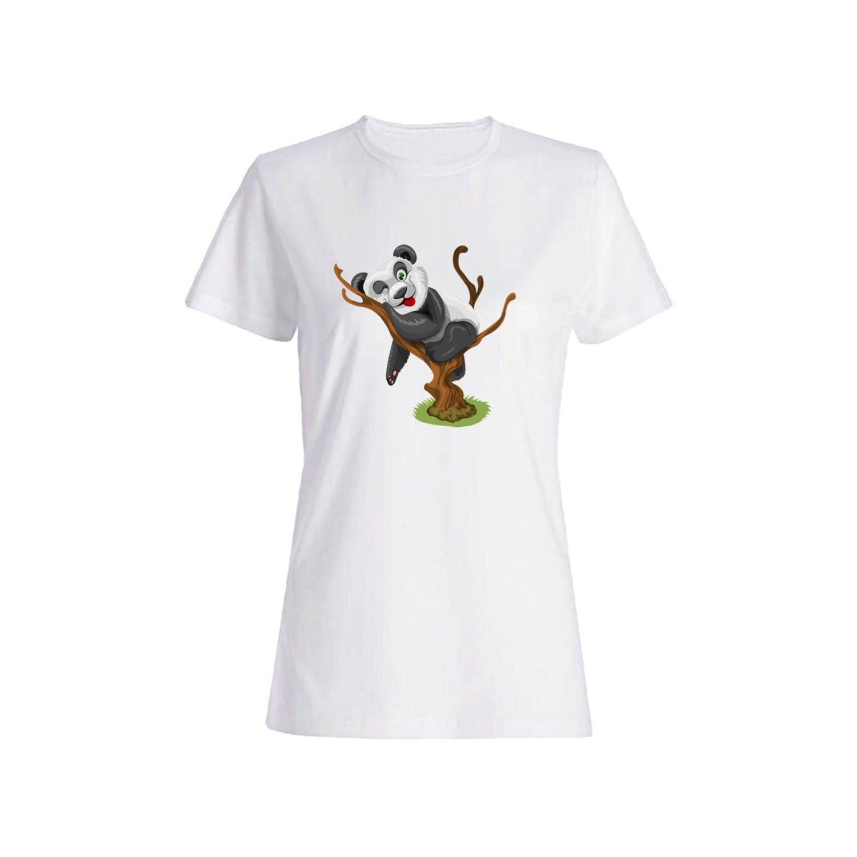 تی شرت نخی زنانه طرح پاندا کد 2707