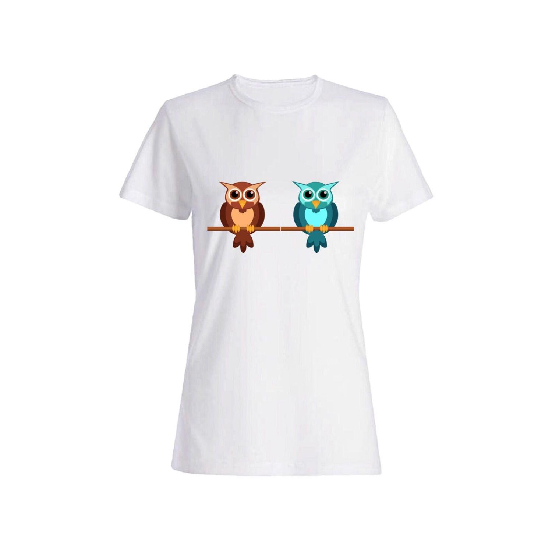تی شرت نخی زنانه طرح جغد کد 2704