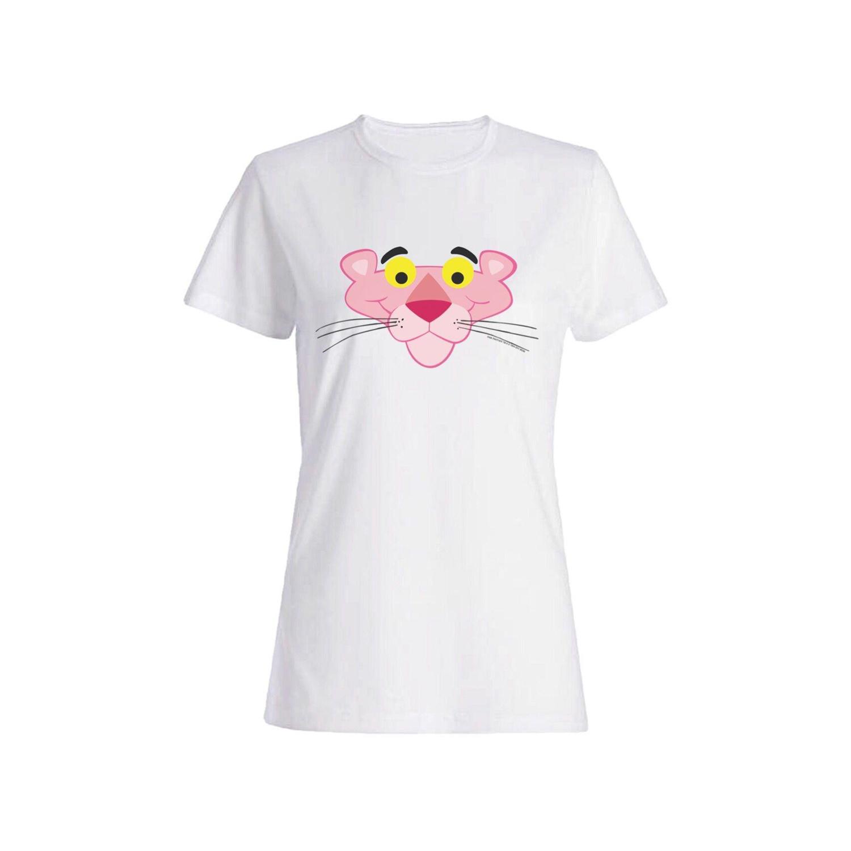 تی شرت نخی زنانه طرح پلنگ صورتی کد 4043
