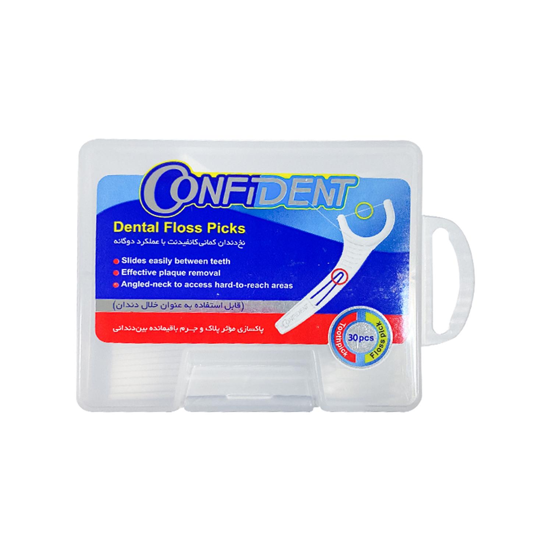 نخ دندان کمانی کانفیدنت بسته 30 عددی