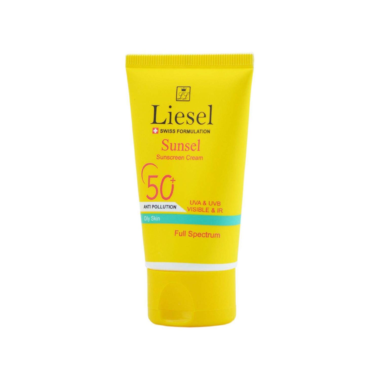 کرم ضد آفتاب لایسل مدل Sunsel مناسب پوست چرب حجم 40 میلی لیتر - بی رنگ