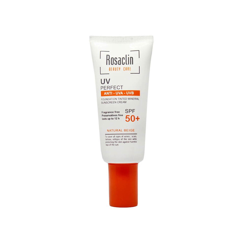 کرم ضد آفتاب رزاکلین مدل Normal & Dry Skin SPF50 حجم 40 میلی لیتر - بژ طبیعی