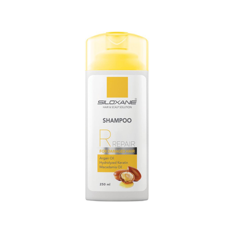 شامپو سیلوکسان مناسب موی آسیب دیده و شکننده حاوی روغن آرگان حجم 250 میلی لیتر