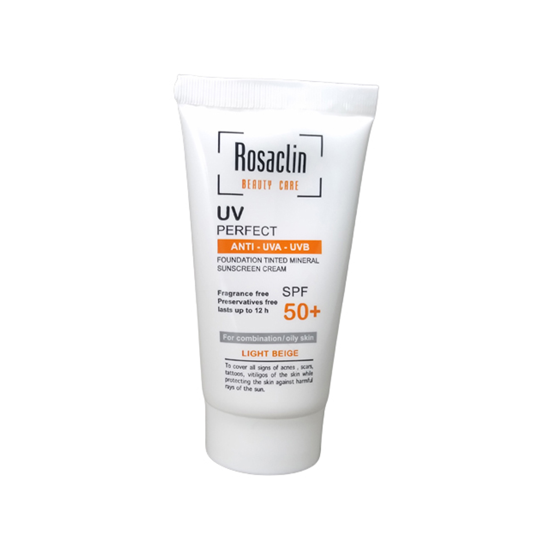 کرم ضد آفتاب رزاکلین مدل Oily Skin SPF50 حجم 40 میلی لیتر - بژ روشن