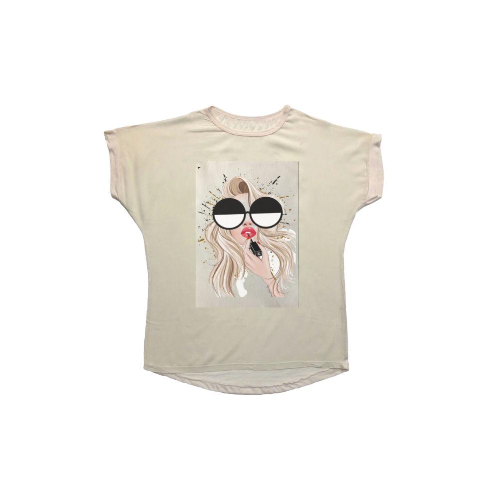 تی شرت نخی زنانه مدل 1006