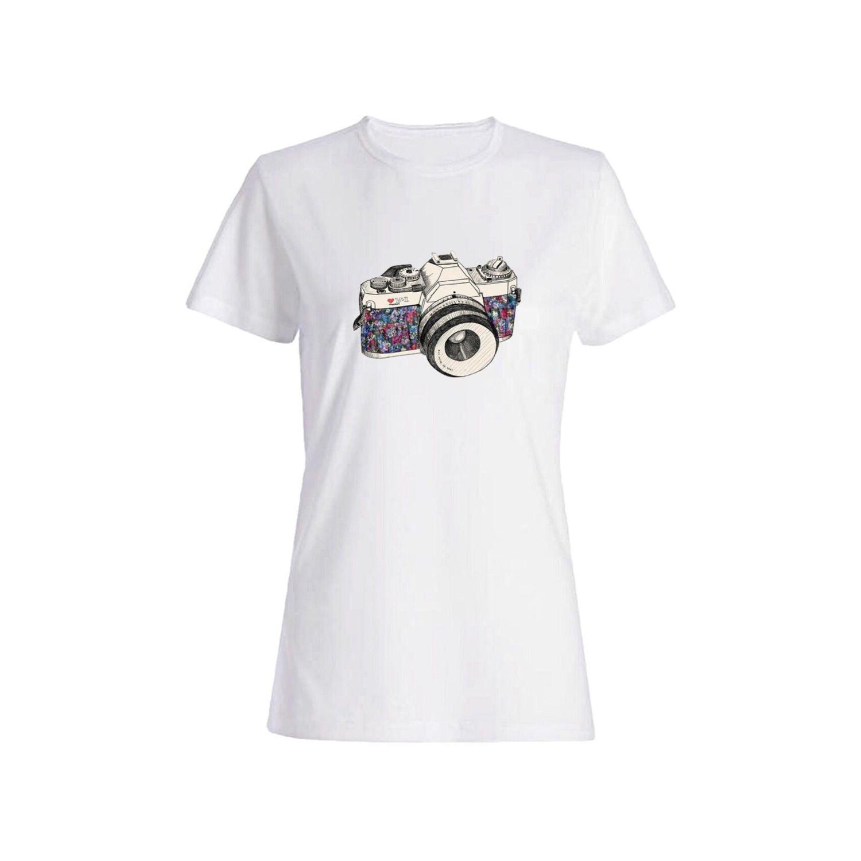 تی شرت نخی زنانه طرح دوربین کد 4214