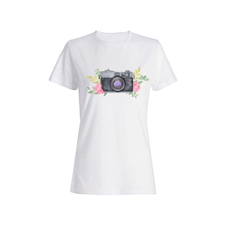 تی شرت نخی زنانه طرح دوربین کد 4212
