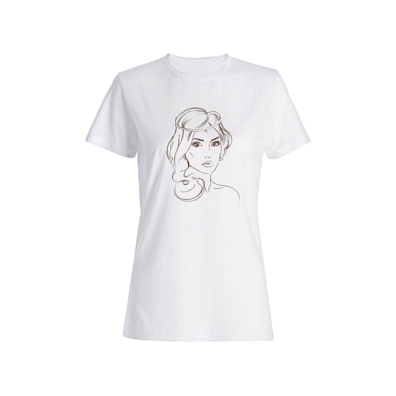 تی شرت نخی زنانه طرح چهره کد 4159
