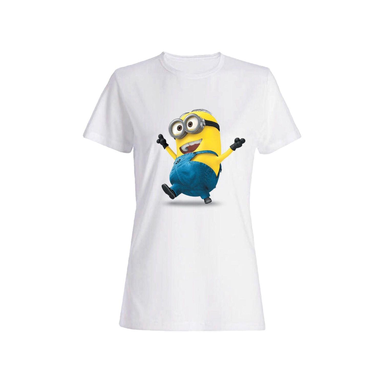 تی شرت دخترانه طرح مینیون کد 128