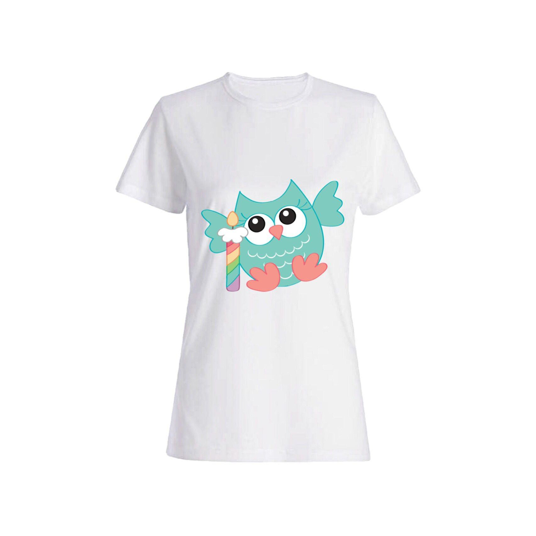 تی شرت دخترانه طرح جغد کد 42