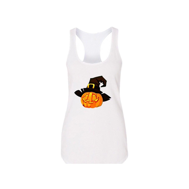 تاپ نخی زنانه طرح هالووین کد m6953