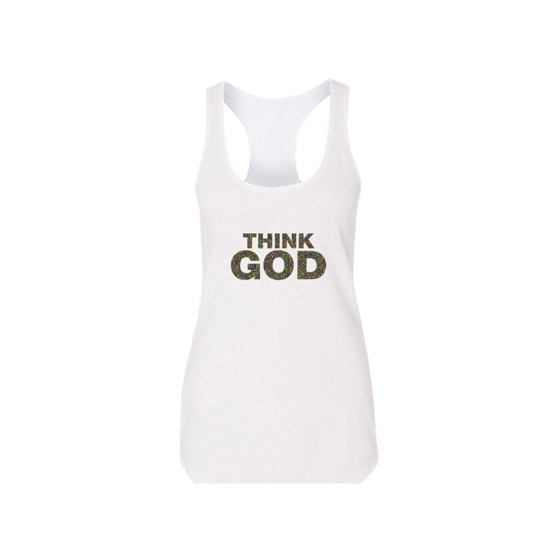 تاپ نخی زنانه طرح خدا کد m6952