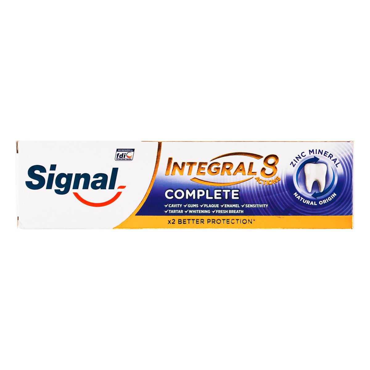 خمیر دندان سیگنال سری Integral 8 مدل Complete حجم 75 میلی لیتر