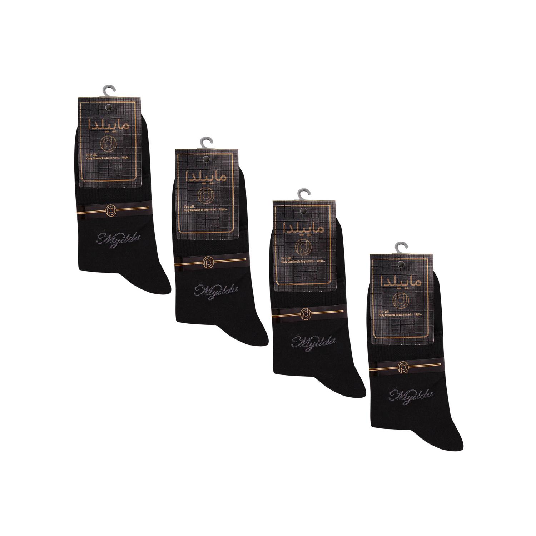 جوراب نخی مردانه ماییلدا مدل 3630-182 بسته 4 عددی
