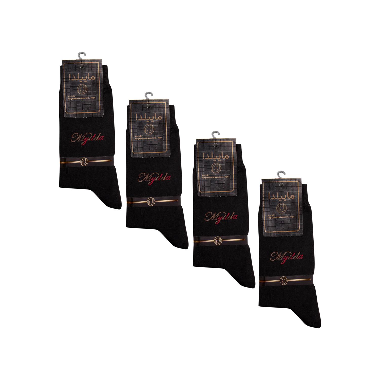 جوراب نخی مردانه ماییلدا مدل 3634-1001 بسته 4 عددی
