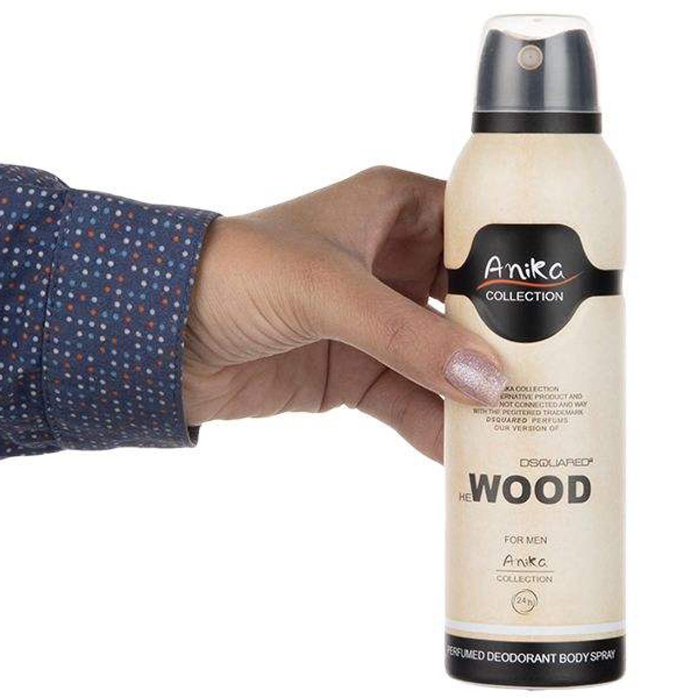 اسپری خوشبو کننده بدن مردانه آنیکا مدل Wood حجم 200 میلی لیتر