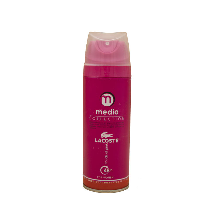 اسپری زنانه مدیا مدل Lacoste Touch Of Pink حجم 200 میلی لیتر