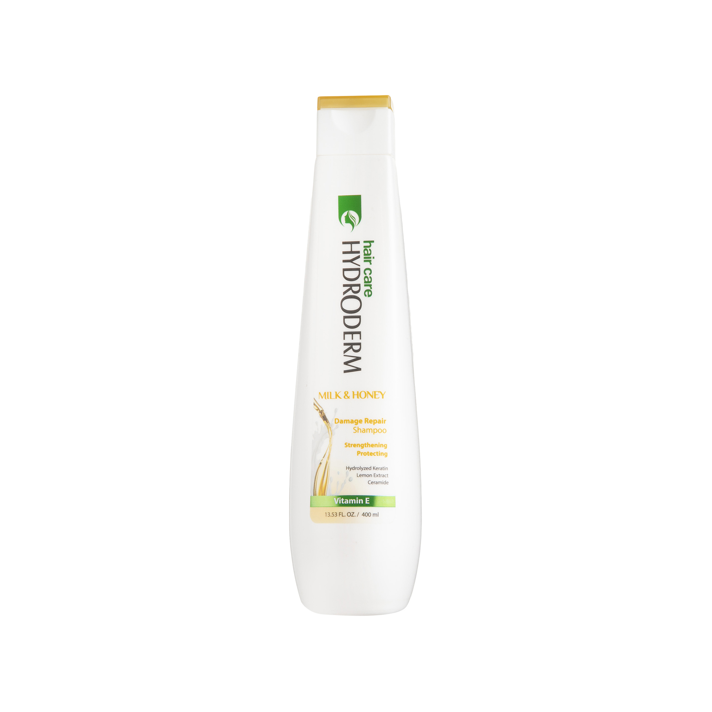 شامپو استحکام بخش و ترمیم کننده مو هیدرودرم مدل Milk & Honey حجم 400 میلی لیتر