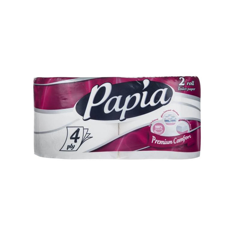 دستمال توالت پاپیا مدل Premium Comfort بسته 2 عددی