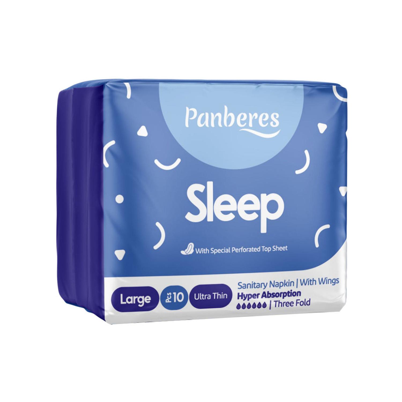 نوار بهداشتی بالدار مشبک پنبه ریز مدل Sleep بسته 10 عددی