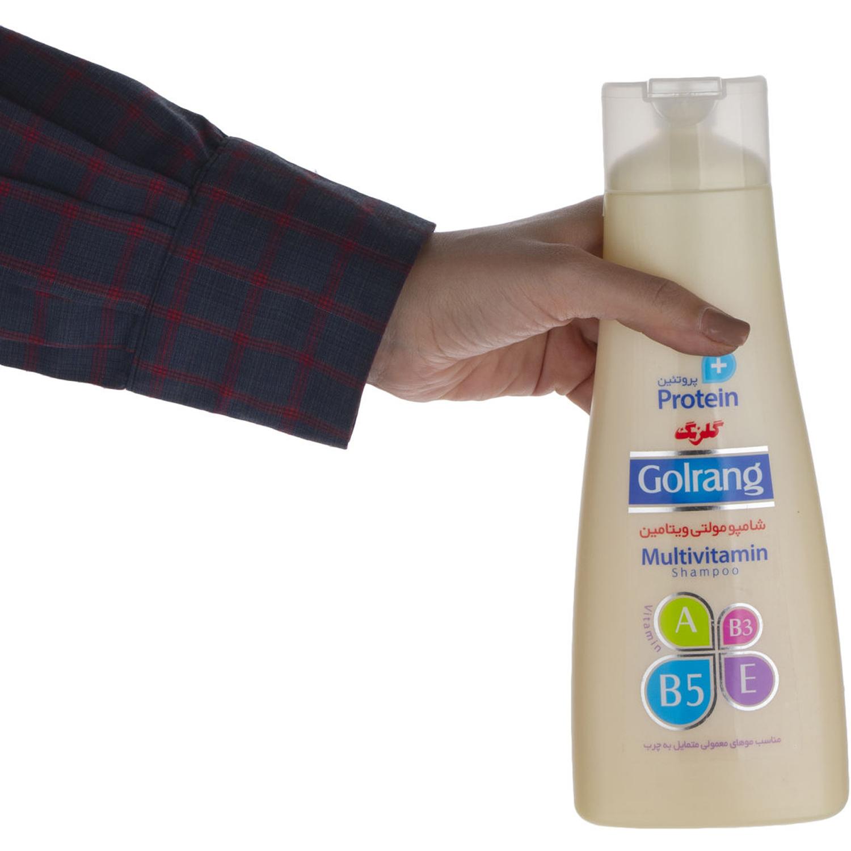 شامپو مولتی ویتامین گلرنگ سری Plus Protein مدل Oily Hair وزن 400 گرم