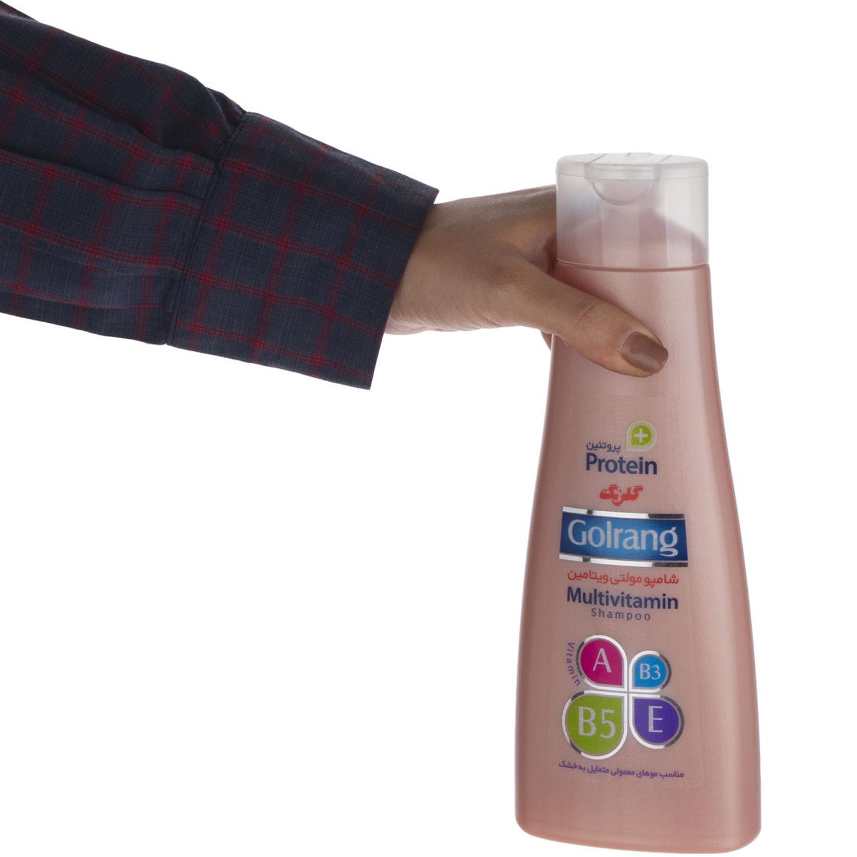 شامپو مولتی ویتامین گلرنگ سری Plus Protein مدل Dry Hair وزن 400 گرم