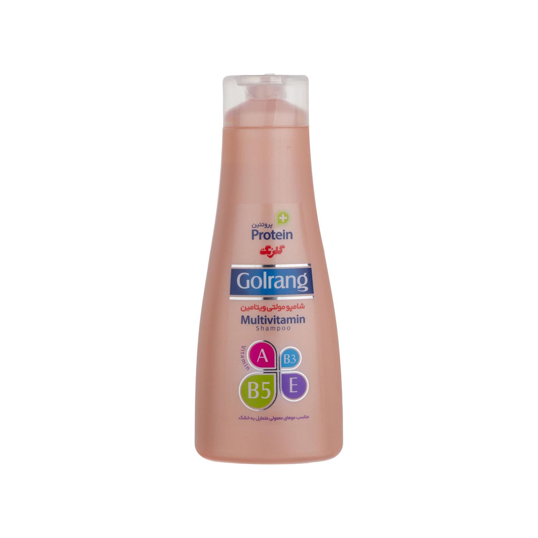 شامپو مولتی ویتامین گلرنگ سری Plus Protein مدل Dry Hair وزن 900 گرم