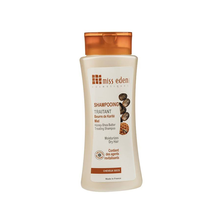 شامپو مرطوب کننده میس ادن مدل Honey & Shea Butter مناسب موهای خشک حجم 250 میلی لیتر
