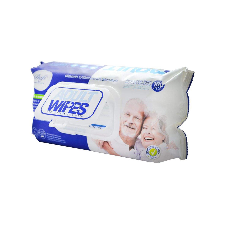دستمال مرطوب دافی مدل Adult Wipes مجموعه 2 عددی